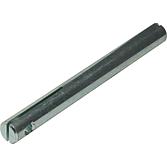 Achse mit Schlitz Nw 12 Kurz 56mm, verzinkt, inkl. Schrauben