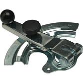 Klappensteller Kv-12 Eco, verzinkt mit Kugelkopf und Sterngriff