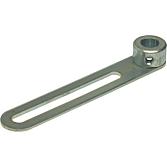 MEZ-Hebel 960 / 12 mm; verz. Klappenhebel mit Buchse