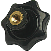 Kreuzgriff M5 IGW DIN6336 aus Duroplast schwarz