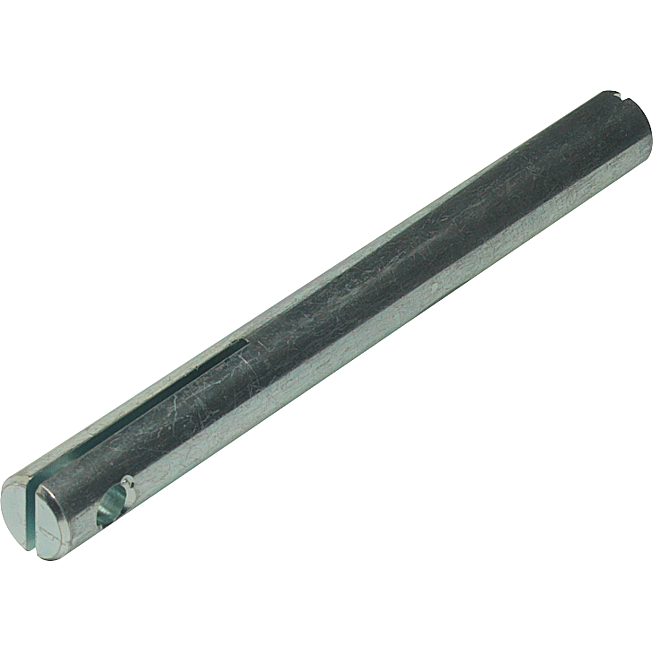 Achse m.Schl. NW12  56mm V2A inkl. 2 Schrauben DIN 85A