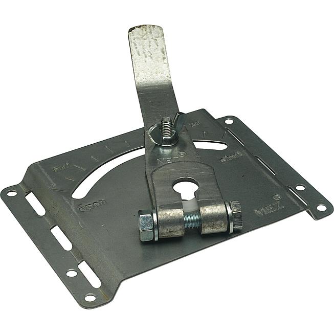 Mez-Clapitur 360, verzinkt Nw 10mm Klappenversteller für Kanäle und Rohre