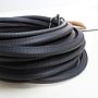 Kantenschutzprofil aus schwarzen Kunststoff zum Schutz vor scharfen Stahlkanten, 10m