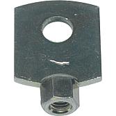 Blattschraube M 8 verzinkt mit Innengewinde mit Zusatzring