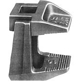 Trägerklammer F3 zweiteilig bis 25 mm Flanschstärke M8