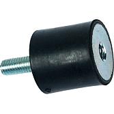 Rundpuffer Typ 1 (B) 50x40mm, Gewinde M10 1x innen,1x aussen