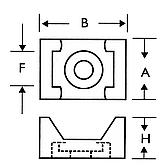 Schraubsockel Typ 2 weiss für Kabelbinder bis 9.0 mm mit zen