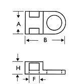 Schraubsockel Typ 1 weiss für Kabelbinder bis 4.8 mm mit sei