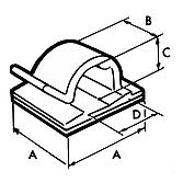 Kabelbriden 16x16 schwarz selbstklebend; für Kabel bis max.