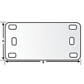 Beschriftungsplatte 40 x 20 aus Nylon 66 für Kabelbinder bis
