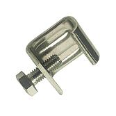 Gewindebügel/ Gewindeklemme V2A mit montierter M8 Schraube