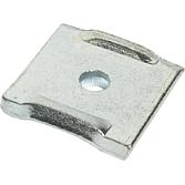 Lochplatte mit Loch 9.5 mm, verzinkt
