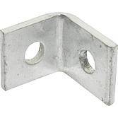 Eckverbinder mit 2-Loch, verzinkt, 47 x 50 mm