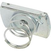 Schiebemutter M 6 für Montageschiene 21 mm breit mit kurzer