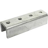 Verbindungsstück 4-Loch für Montageschiene 41mm breit, verzinkt