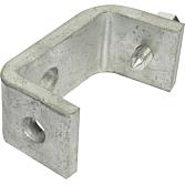 Schienenklammer längs für Montage an Stahlträger mit Schraub