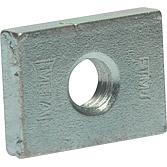 4-Kant-Gewindeplatte 30x22x6 für Profilschienen 27/18 M8