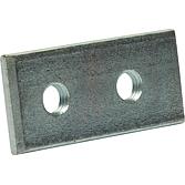 2-Loch-Gewindeplatte 63x30x5 für Profilschienen 36/40 M10