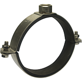 Rohrschelle 2-Teilig AP-Top V2A mit Schallschutz - Schwere Ausführung