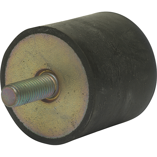 Rundpuffer Typ 3 (D) 30x20mm, Gewinde M8 1x aussen