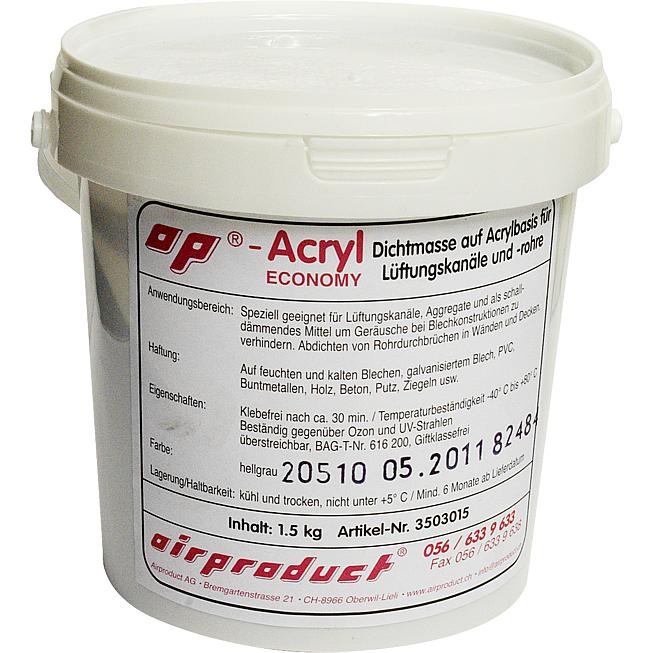 Eco-Ap-Acryl 1.5kg Kessel Dichtungsmasse Acrylbasis