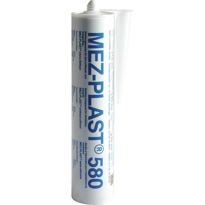Mez-Plast 580 Kartusche 310Ml silbergraue Dichtmasse