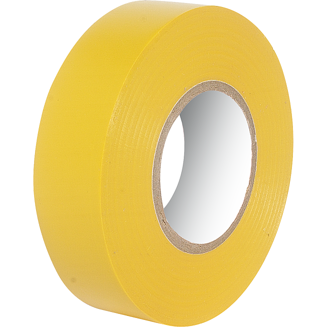 Pvc-Isolierband 19mm gelb Rolle à 25lm