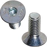 Senkschrauben M3x12 ~DIN 7991 verzinkt mit Innensechskant