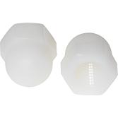 Hutmuttern M6 Nylon, Din1587, hohe Form