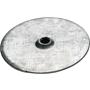 Isolierteller Ø 50/ 5/ 1.0mm, verzinkt, Angereift, mit Versenkt