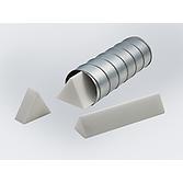 Schalldämpferkulisse | Lärmschutz-Rohrschalldämpfer Einsatz als Keilsystem