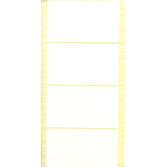 Lochrand-Etiketten 127x74mm 1-Bahnig Unbedruckt