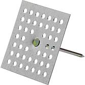 PBH 034 19 mm m. Lochplatte Isolierstifte zum Aufkleben