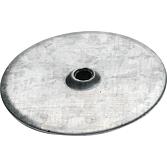 Isolierteller Ø 50/5/1.0mm, verzinkt, Angereift, mit Versenkt