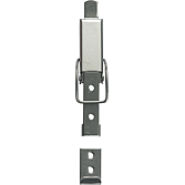 Kappenschloss Typ 790 inox best. aus Verschluss + Haken