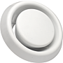 Abluftventil OPF 080, weiss aus Kunststoff  (~RAL9010)