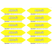 """Luftrichtungspfeil""""Abluft"""" gelb/weiss 30x140mm Bogen à 10Stk"""