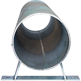 Rammschutzrohr Ø 80, 500 mm mit Befestigungsbügeln, verz