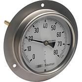 Thermom Ø 100mm Temperaturbereich 0° - und 80° Nach D