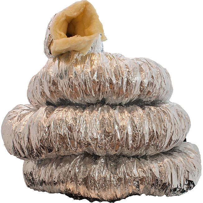 Schalldämmender Vollflexibler Schlauch Ø 80, -30 bis 150°C