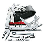VictorInox Swiss Tool x Plus Ratchet in Leder-Etui