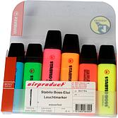 Stabilo Boss Leuchtmarker Etui mit 6 versch. Farben