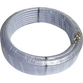 Druckluftschlauch 8x14 / 20m transparent mit Kupplung und St
