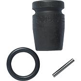 HAZET-Schlagnuss 13 mm kurz inkl. Gummiring + Haltestift Auf