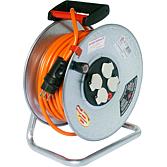 Kabelrolle 33lm/ 3x1.5 Stahl Orang. Sicherheitskabel