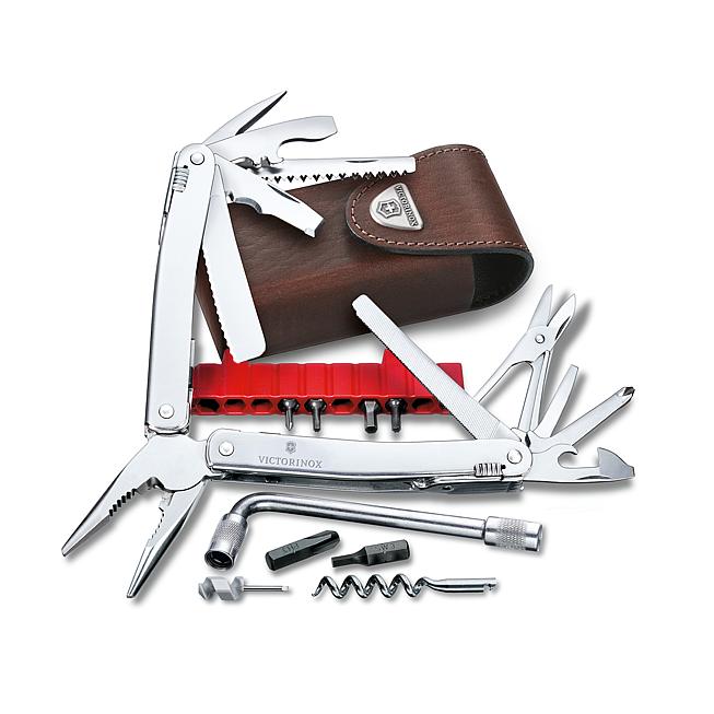 Victorinox Swiss Tool Spirit xc Plus in Leder-Etui