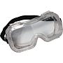 Schutzbrille aus Kunststoff mit Belüftungsschlitzen