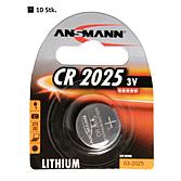Batterie CR2025, 3 Volt, 170 mAh Lithium Knopfzelle