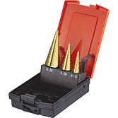 D-3 Stufenbohrer-Set 3-tlg. HSS; TiN; 4-12; 4-20; 6-30mm