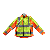 "ADAM Softshell Polyester Jacke ""L"" Reflexstr. gelb/ orange"